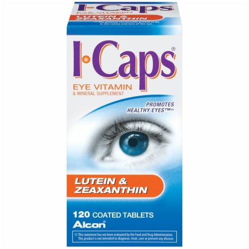 Alcon I-Caps Lutein & Zeaxanthin Supplements Perspective: front