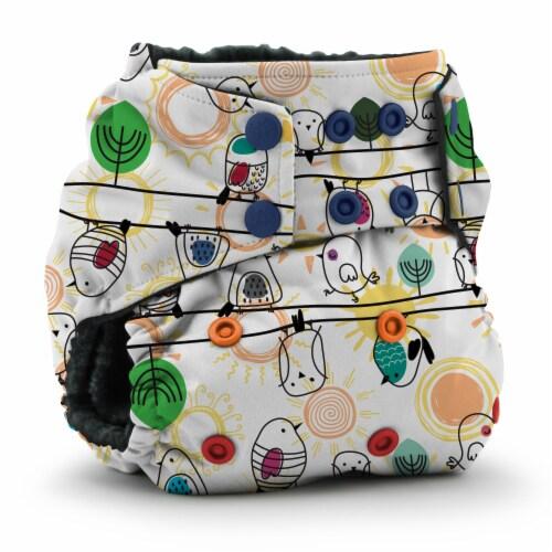 Kanga Care Rumparooz OBV One Size Pocket Cloth Diaper | Tweet (6-40lbs) Perspective: front