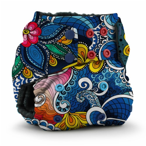 Kanga Care Rumparooz OBV One Size Pocket Cloth Diaper | Whimsical (6-40lbs) Perspective: front