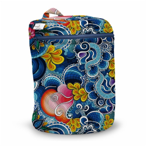 Kanga Care 3D Dimensional Seam Sealed Wet Bag - Whimsical Perspective: front
