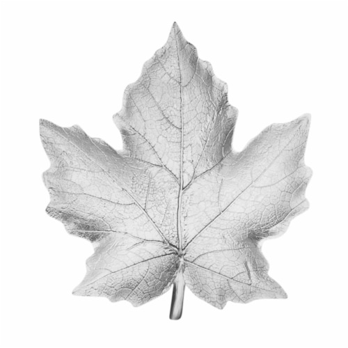 Silver Resin Maple Leaf Plate Rf Perspective: front