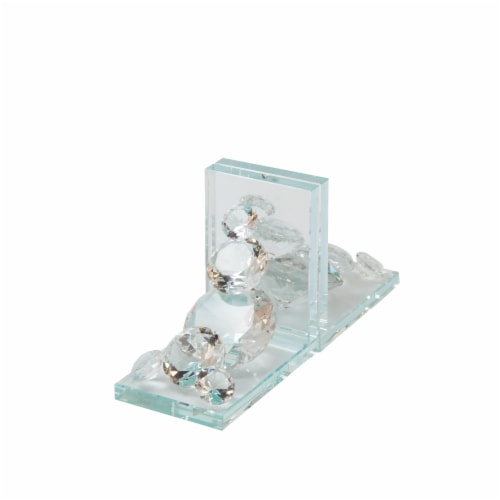 S/2 Crystal Diamond Bookends Perspective: front