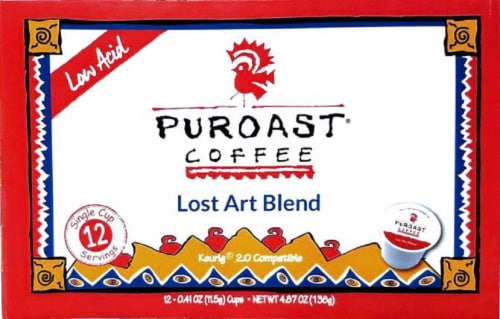 Puroast Lost Art Blend Coffee Single-Serve Cups Perspective: front
