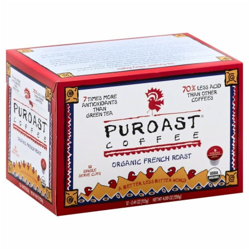 Puroast Organic French Roast Single-Serve Cups Perspective: front