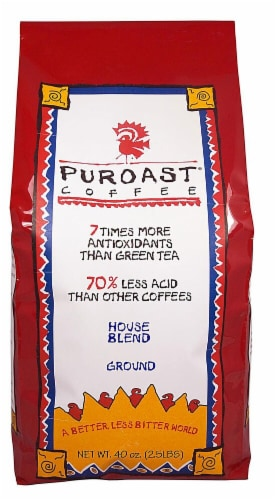 Puroast  Low Acid Coffee House Blend Drip Grind Perspective: front