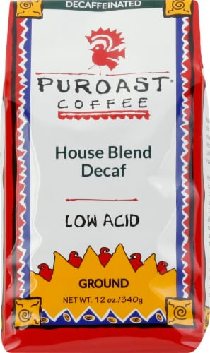 Puroast Coffee House Blend Decaf Ground Coffee Perspective: front