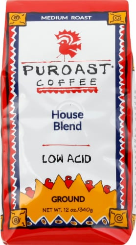 Puroast Low-Acid House Blend Ground Coffee Perspective: front