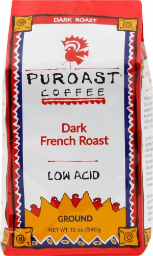 Puroast Low Acid Dark French Roast Coffee Perspective: front