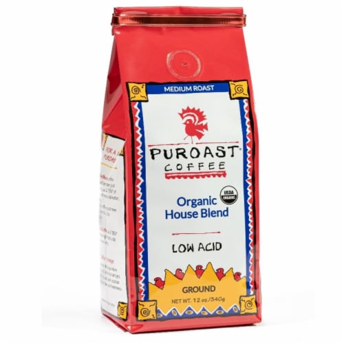 Puroast Organic House Blend Ground Coffee Perspective: front