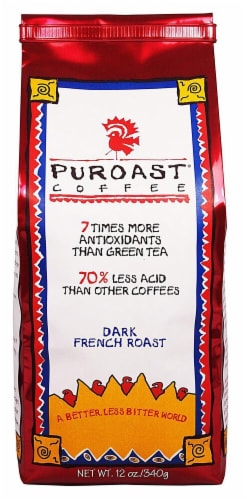 Puroast Coffee Dark French Roast Coffee Perspective: front