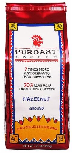 Puroast  Puroast Low Acid Coffee Hazelnut Flavored Coffee Drip Grind Perspective: front
