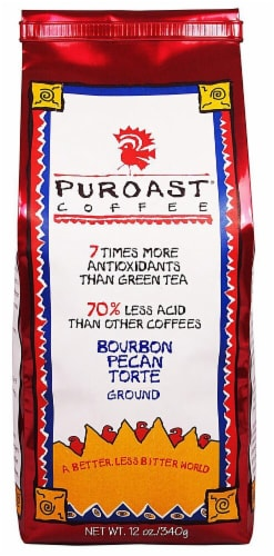 Puroast Bourbon Pecan Torte Ground Coffee Perspective: front