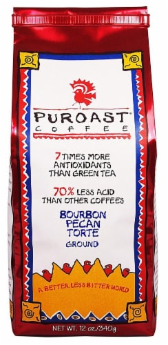 Puroast Bourbon Pecan Torte Whole Bean Coffee Perspective: front