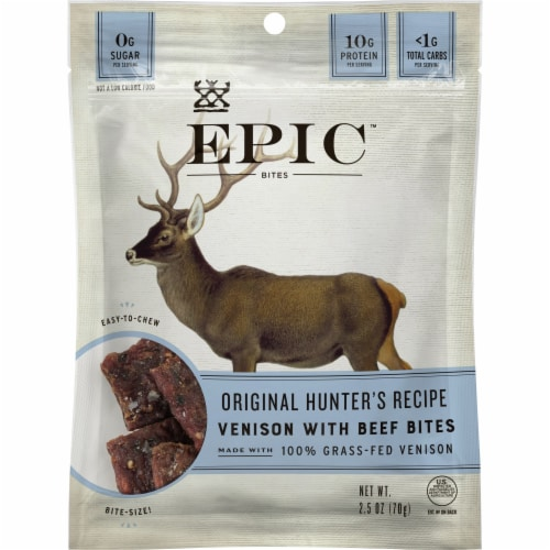 EPIC Venison with Beef Bites Perspective: front