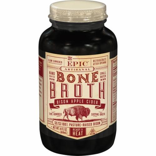 EPIC Artisanal Bison Apple Cider Bone Broth Perspective: front