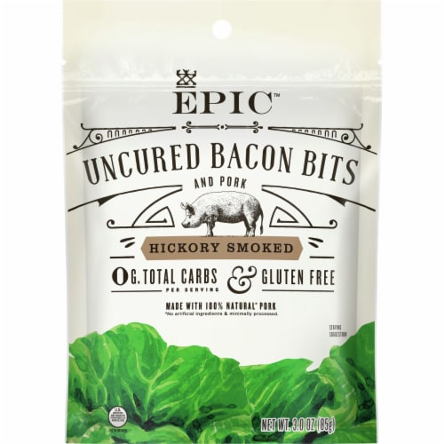 EPIC Hickory Smoked Uncured Bacon Bits Perspective: front