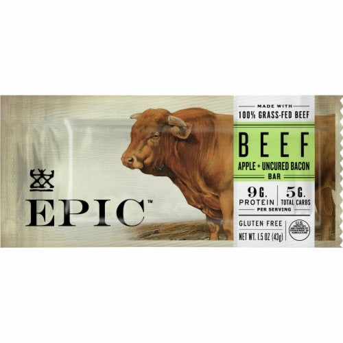 EPIC Beef Apple + Uncured Bacon Bar Perspective: front