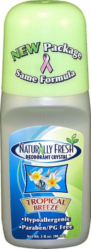 Naturally Fresh  Roll On Deodorant Crystal Tropical Breeze Perspective: front