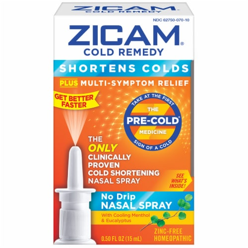 Zicam Cold Remedy No Drip Nasal Spray Perspective: front