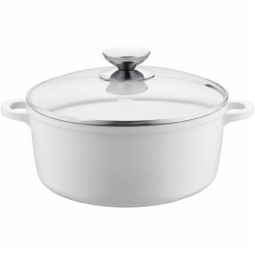 Range Kleen 6.75 in. 1.25 qt Vario Click Pearl Induction Dutch Oven with Lid Perspective: front