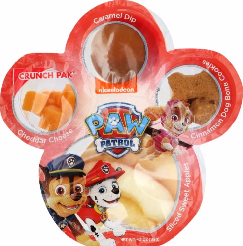 Crunch Pak Paw Patrol Apple Cheese Caramel & Cookies Snack Pack Perspective: front