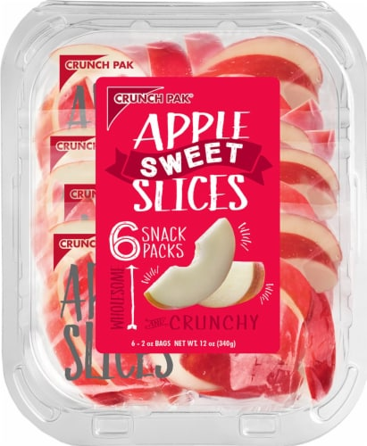 Crunch Pak Sweet Apple Slices Snack Packs Perspective: front
