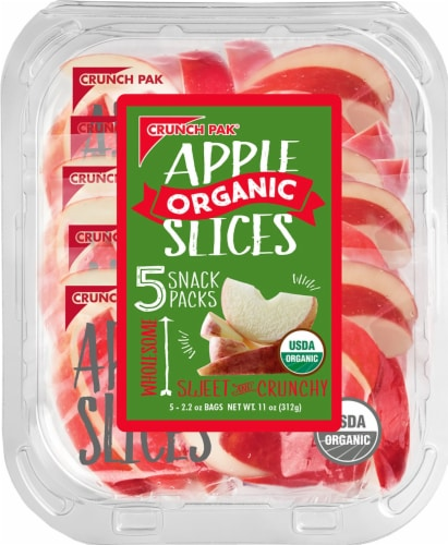 Crunch Pak Organic Apple Slices 5 Count Perspective: front