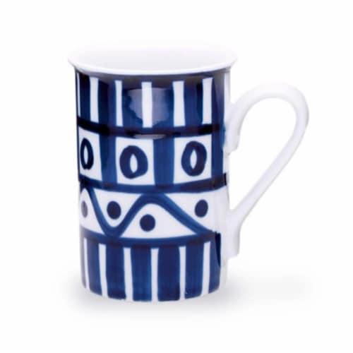 Dansk Arabesque Blue & White Dinnerware Mug Perspective: front