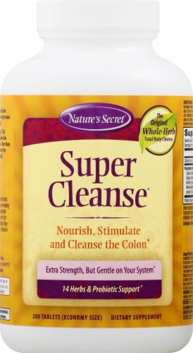 Nature's Secret Super Cleanse Dietary Supplement Tablets Perspective: front