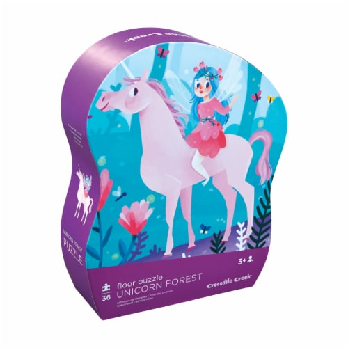 Crocodile Creek® Unicorn Forest Floor Puzzle Perspective: front
