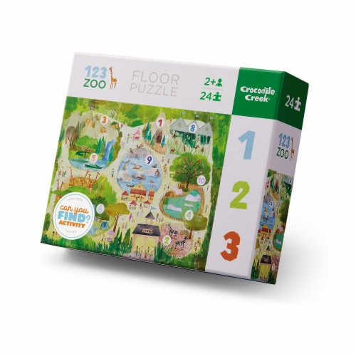 Crocodile Creek® Early Learning 123 Zoo Floor Puzzle Perspective: front