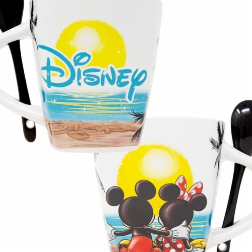 Disney 49221 Disney Mickey Mouse Sunset Mug with Spoon Perspective: front
