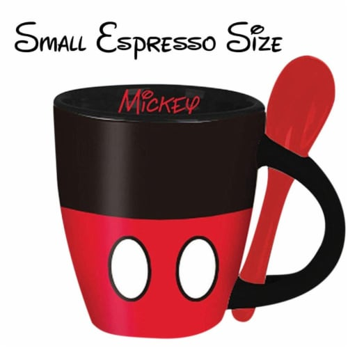 Disney 49207 Disney Mickey Mouse Espreso Cups with Spoon Perspective: front