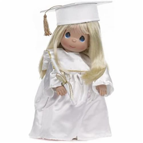 Precious Moments Doll, Graduate, Blonde, 12 inch doll Perspective: front