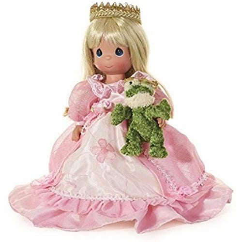 Precious Moments Doll, How Many Frogs Must I Kiss?,  12 inch Doll Perspective: front