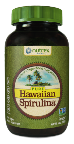 Nutrex Hawaii Pure Hawaiian Spirulina Pacifica Dietary Supplement Powder Perspective: front