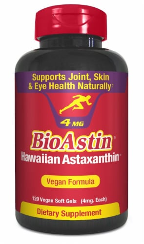 Nutrex Hawaii  BioAstin® Hawaiian Astaxanthin Vegan Formula Dietary Supplement Perspective: front