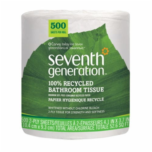 Seventh Generation 100% Recycled Bathroom Tissue Perspective: front