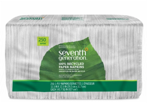Seventh Generation 100% Recycled Paper Napkins Perspective: front