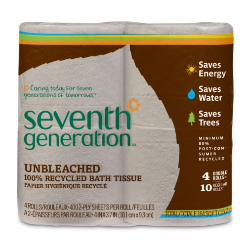 Seventh Generation Natural Unbleached Bath Tissue Perspective: front