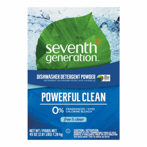 Seventh Generation Free & Clear Dishwasher Detergent Powder Perspective: front