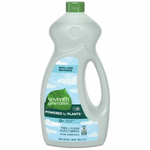 Seventh Generation Free & Clear Natural Dish Liquid Perspective: front