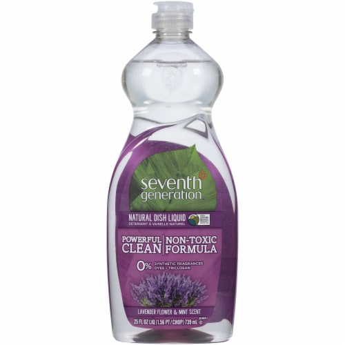 Seventh Generation Lavender Flower & Mint Scent Liquid Dish Soap Perspective: front