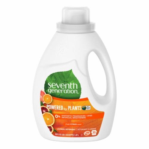 Seventh Generation Fresh Citrus Natural Liquid Laundry Detergent Perspective: front