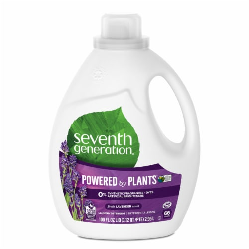 Seventh Generation Fresh Lavender Liquid Laundry Detergent Perspective: front