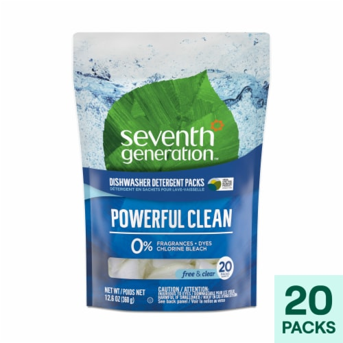 Seventh Generation Free & Clear Dishwasher Detergent Pac Perspective: front
