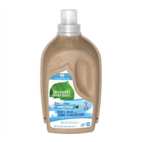 Seventh Generation® Free & Clear Concentrated Laundry Detergent Perspective: front