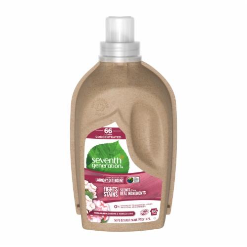 Seventh Generation Geranium Blossoms & Vanilla Natural Liquid Laundry Detergent Perspective: front