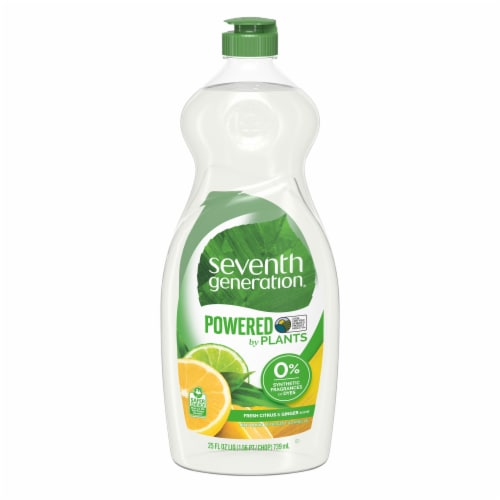 Seventh Generation Fresh Citrus & Ginger Scent Natural Dish Liquid Perspective: front