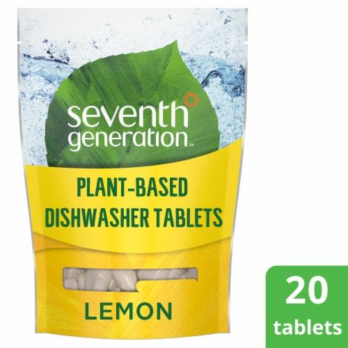 Seventh Generation Lemon Scent Dishwasher Detergent Packs Perspective: front